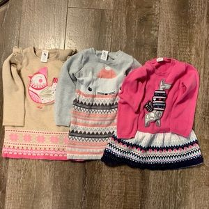 ☕️Bundle of 3 Gymboree 3T sweater dresses